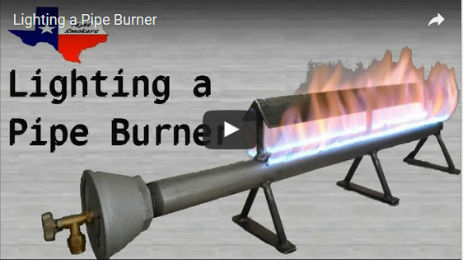 Lighting a Pipe Burner