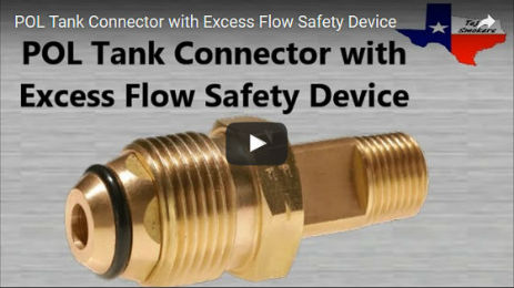 POL Tank Connector with Excess Flow Safety Device