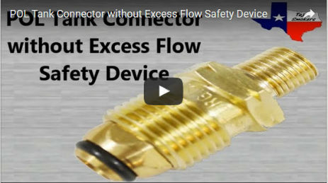 POL Tank Connector without Excess Flow Safety Device
