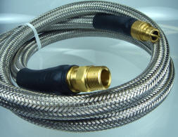 "3/4"" ID Natural Gas Hose with Stainless Steel Overbraid"