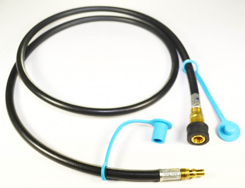 Low Pressure QD Gas Connector Propane Hose, Includes Dust Cap and Dust Plug