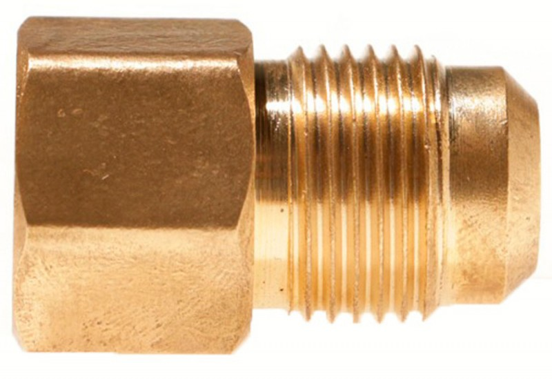 Female SAE Gas Flare x Male SAE Gas Flare Brass Adapter