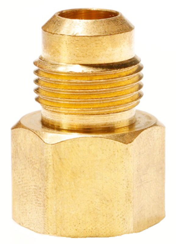 Male SAE Gas Flare x Female NPT Brass Adapter