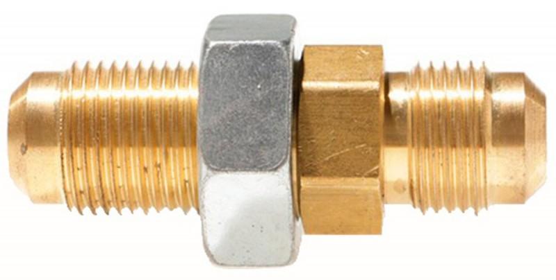 Brass Male SAE Gas Flare x Male SAE Gas Flare (Bulkhead Union)