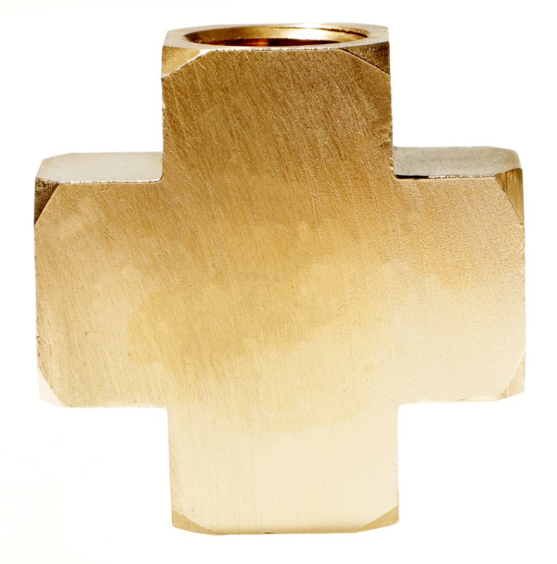 FemaleExtruded Brass Cross, FFFF