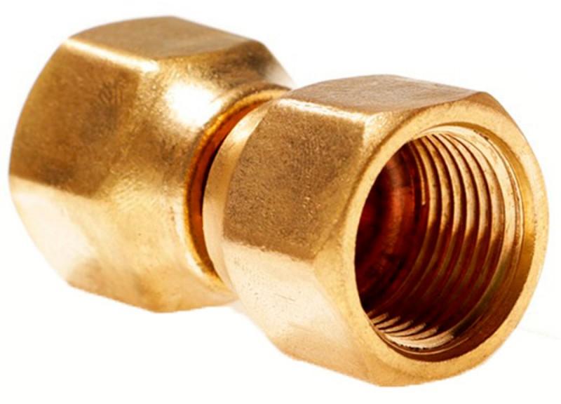 Brass Female Gas Flare x Female Gas Flare Swivel Coupling (Union)