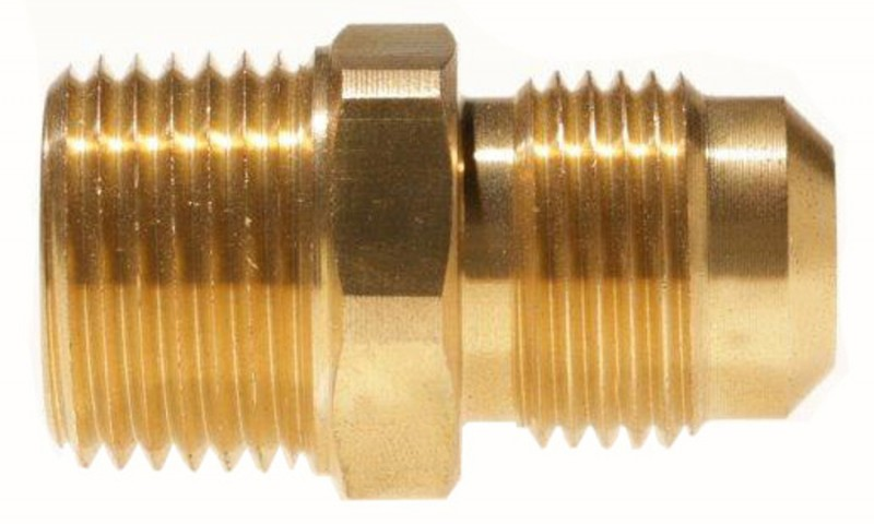 Male NPT x Male SAE Gas Flare Brass Adapter