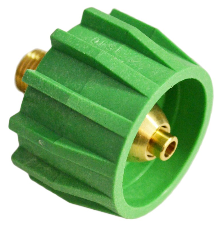 Green Acme Tank Safety Tank Fitting