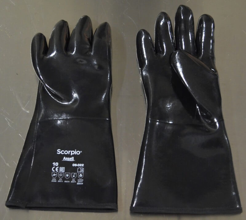 Temperature resistant FDA approved gloves