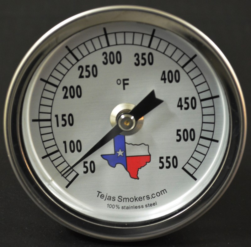 Tejas Smokers® Stainless Steel Temperature Gauge