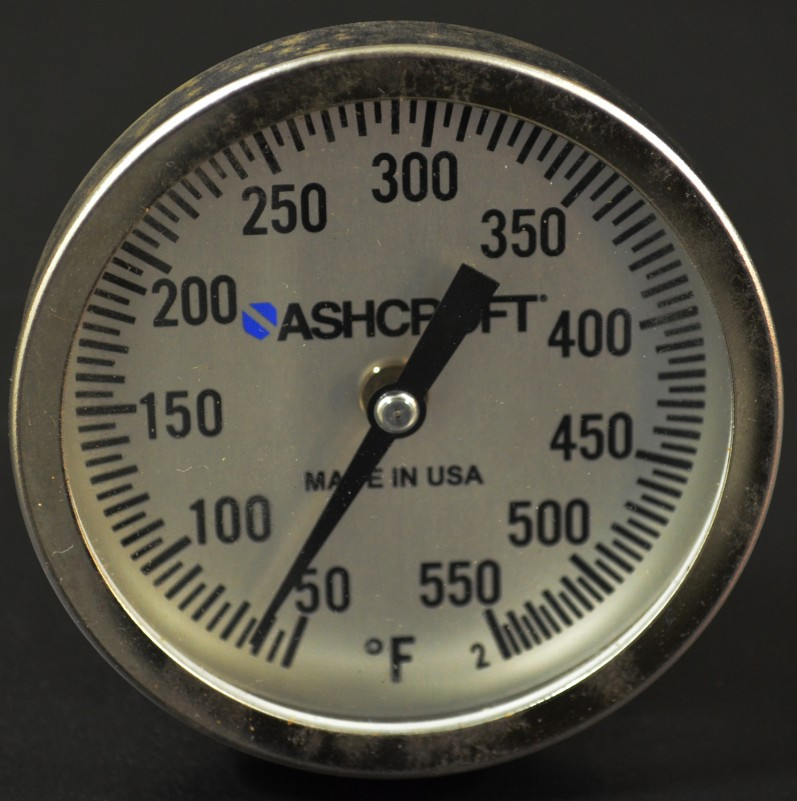Ashcroft® Stainless Steel BBQ Temperature Gauge Thermometer