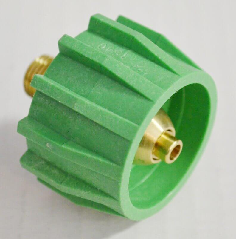 204GAF024 Green Acme Type 1 Wrenchless Tank Fitting, 200,000 btu/hr Maximum Output