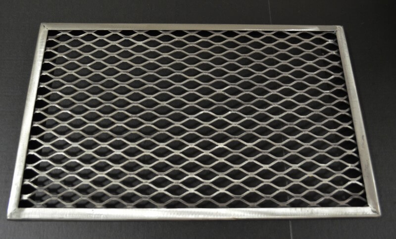 Framed Main cooking grate in barrel, slide-out grate for 1628CC DELUXE