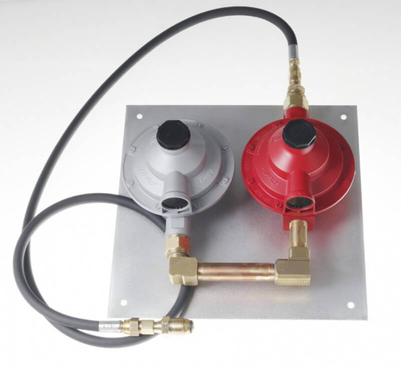 TS9209210 First and Second Stage Low Pressure Regulator Assembly Mounted on Aluminum Panel