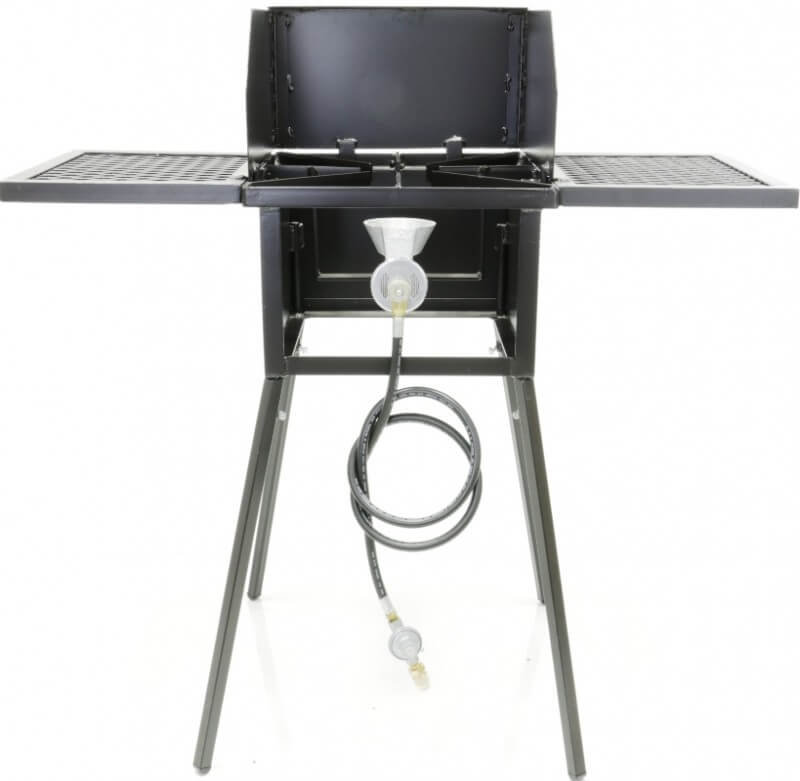 CS1-COM - Single Burner Cooker Stand COMBO For Outdoor Cooking, Camping, and Picnics