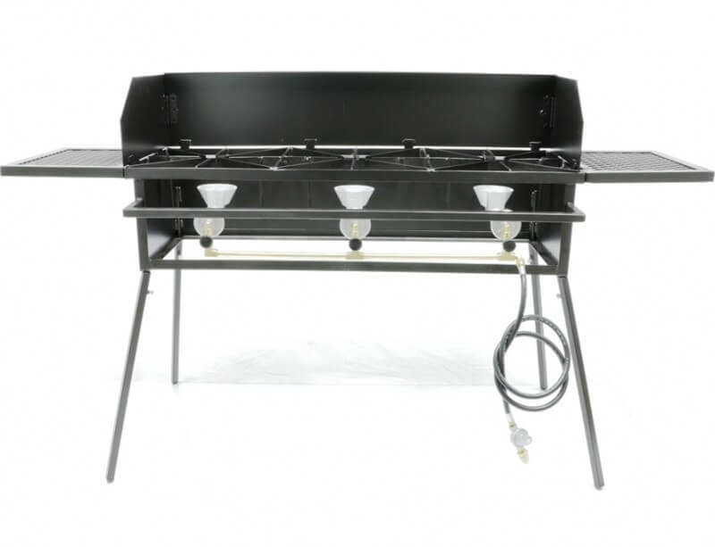 Triple Burner Portable Outdoor Cooker Stand COMBO for Outdoor Cooking, Camping, and Picnics