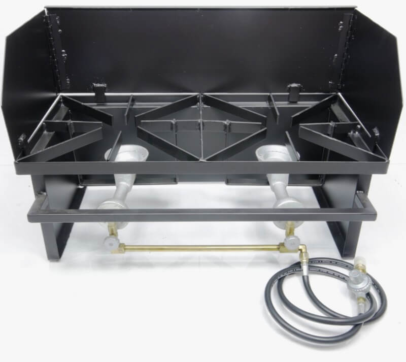 Dual Burner Outdoor Hot Plate Cooker Combo