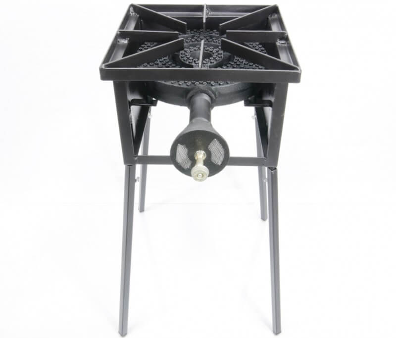 "Single Burner Cooker Stand with 12"" Diameter 120,000 btu/hr Burner"