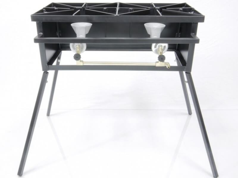 Dual Burner Cooker Stand For Outdoor Cooking, Camping, and Picnics