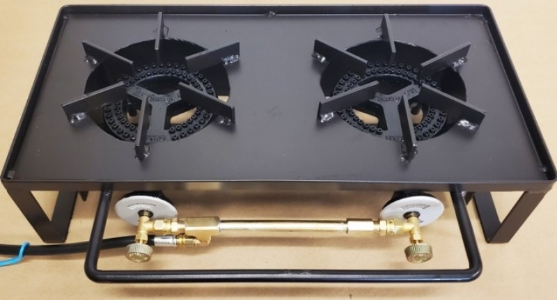 RVHP - Double Burner Low Pressure, Compact and Portable, Outdoor Recreational Vehicle Hot Plate