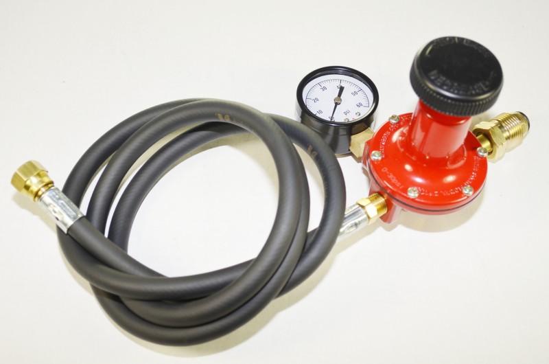 Adjustable 0-30 psi High Pressure Propane Regulator with Pressure  Gauge Assembly
