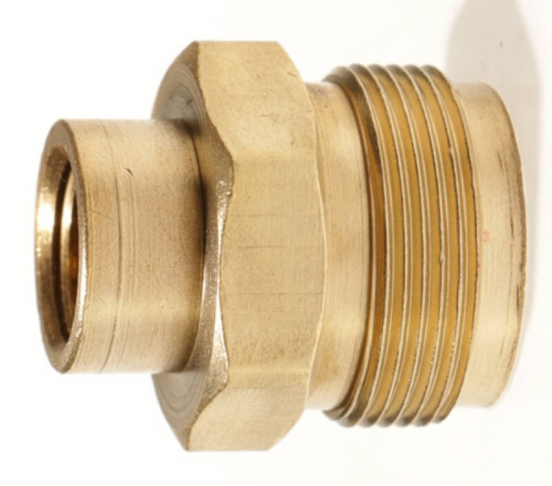 "Male #600 Disposable Cylinder Adapter , 1/4"" Female NPT x  Male 1"" x 20 TPI."