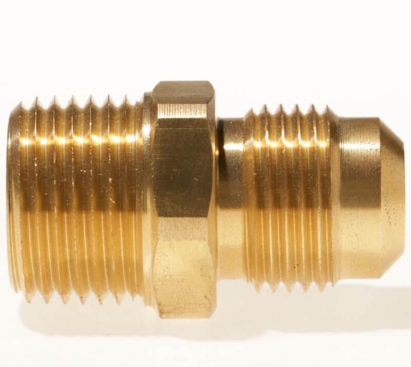 e097c1fdc7f Male NPT x Male SAE Gas Flare Brass Adapter