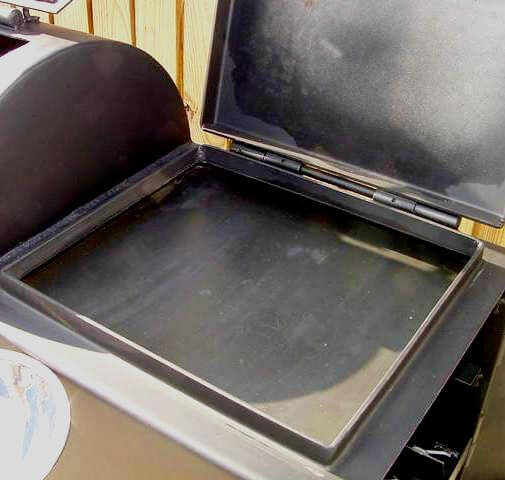 griddle installed in model 1628 firebox
