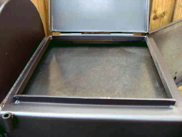 firebox heat baffle and griddle for model 2040 smoker pit firebox