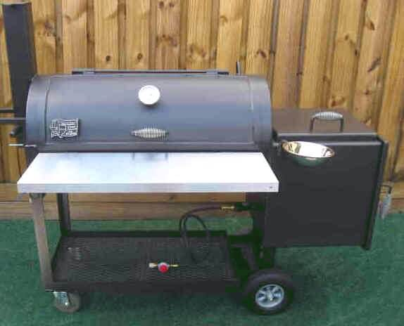 2040 Deluxe BBQ Smoker Pit with Optional Sauce Bowl
