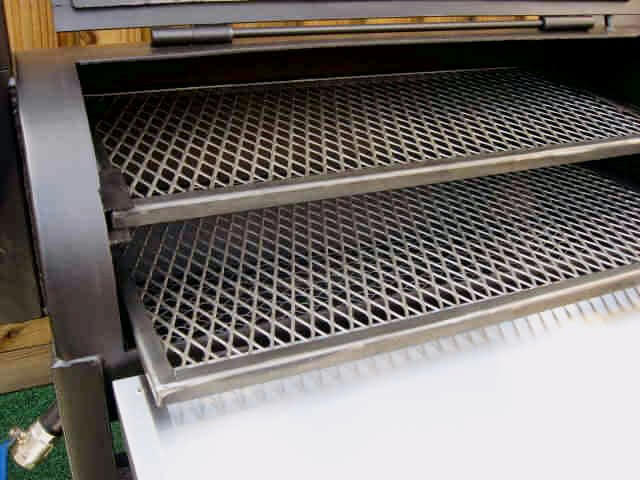 slide out shelves are fully supported in model 2040 smoker pit