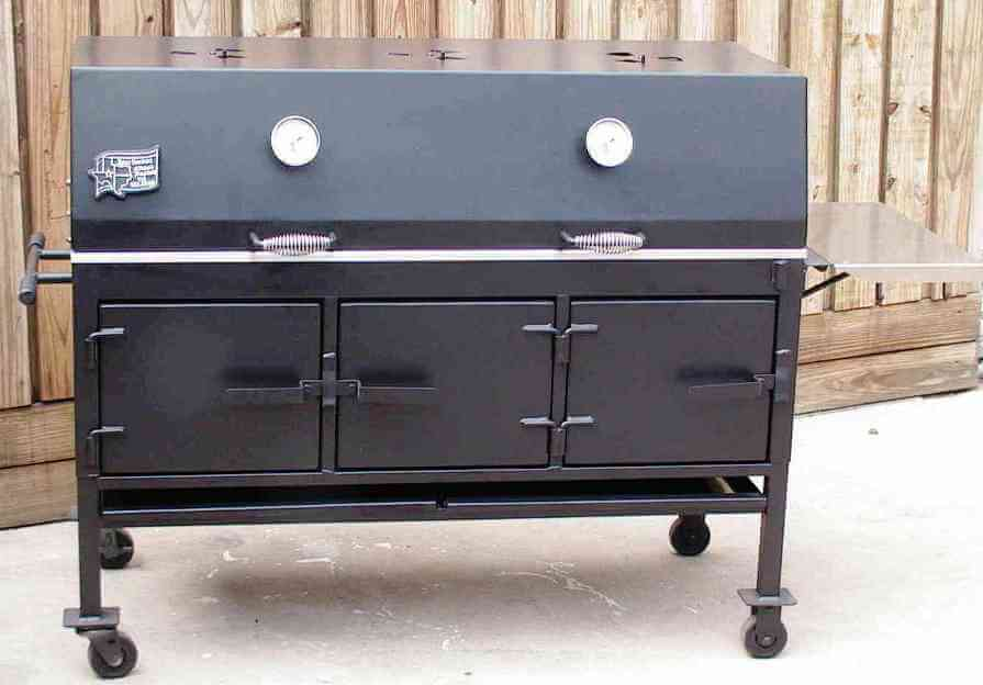 2454Xl charcoal grill shown with optional temperature gauges