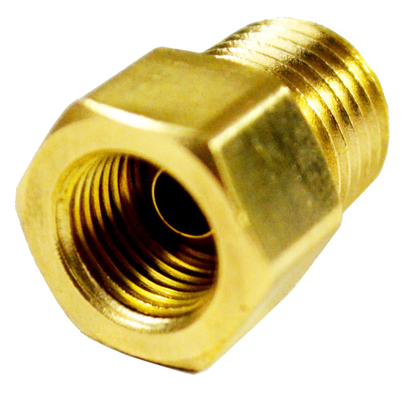 1/4in Female Inverted Flare x 1/4in Male NPT Adapter (Safety Flow)