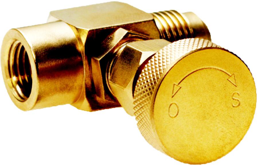 knurled brass knob on gas needle valve