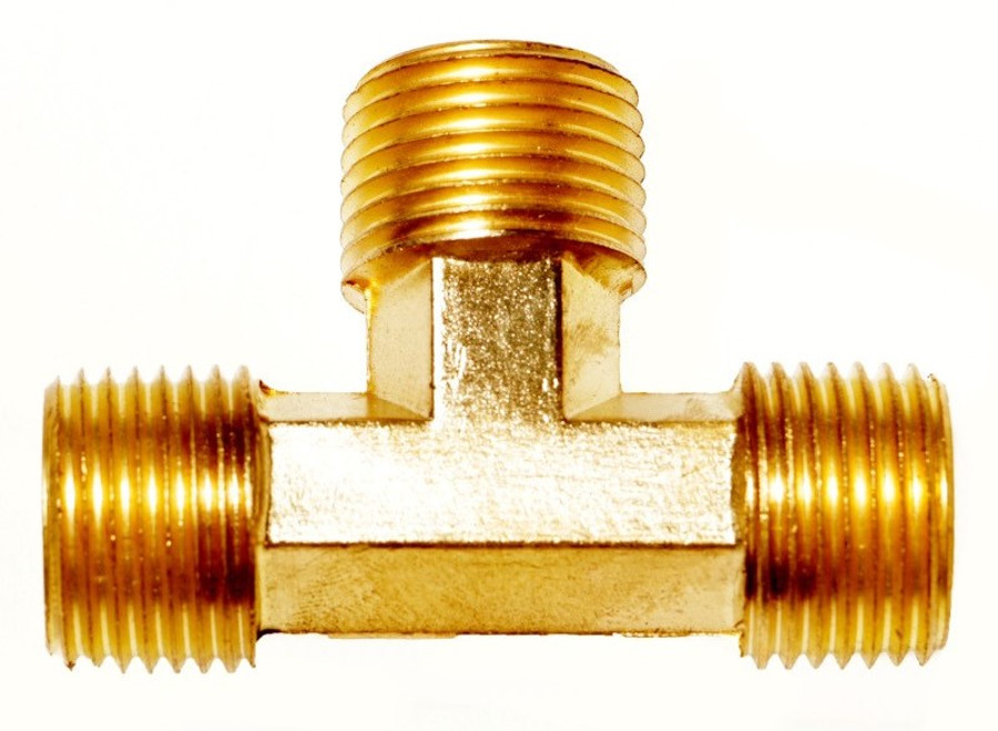 Male-Male-Male NPT Extruded Tee