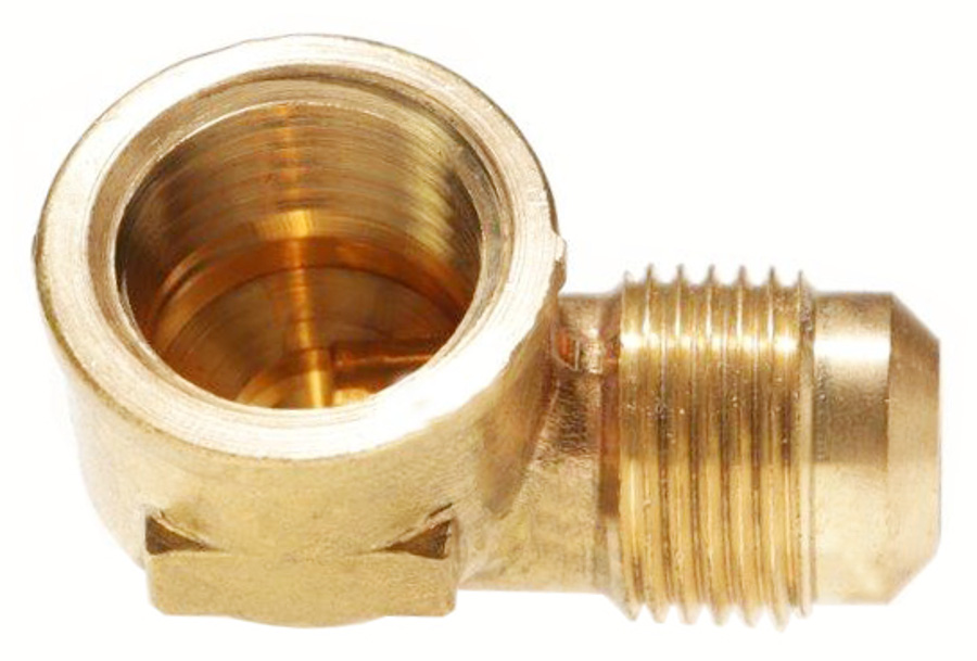 Female NPT x 90° Male SAE Gas Flare Adapter (Ell)