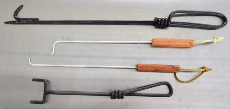 Special Offer for purchase of Poppas Hooks, Fire Pokers, and a Charcoal Grate Forks