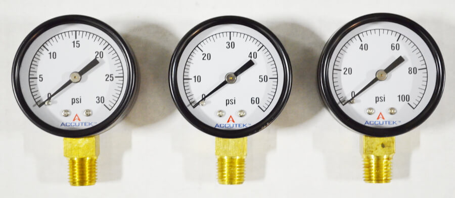 Pressure Gauge with 1/4 Male NPT Fitting