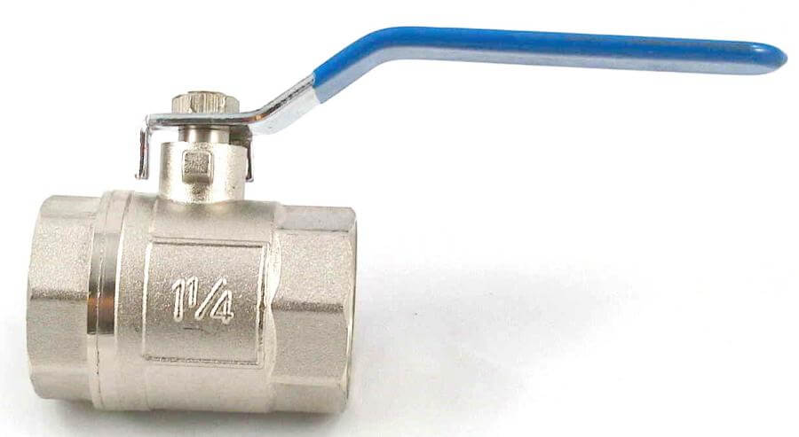 optional brass ball valve for grease drain