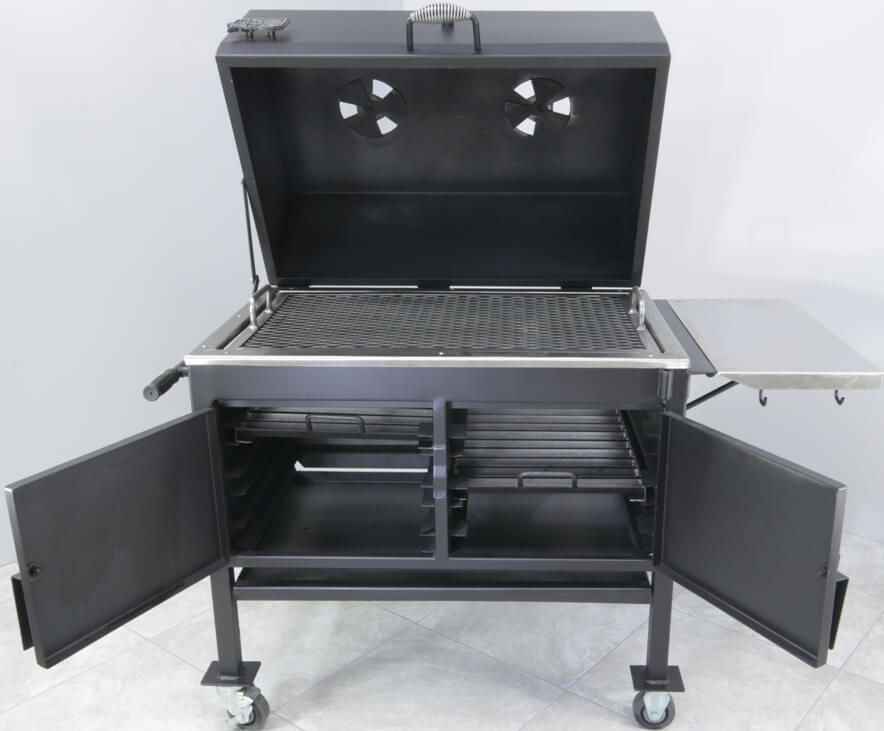 2436XL Fajita Grill Fold Down Stainless Steel Shelf with Utensil Hooks