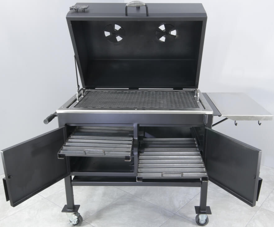 2436XL Fajita Grill 2 Heavy Duty Charcoal Racks with Handles