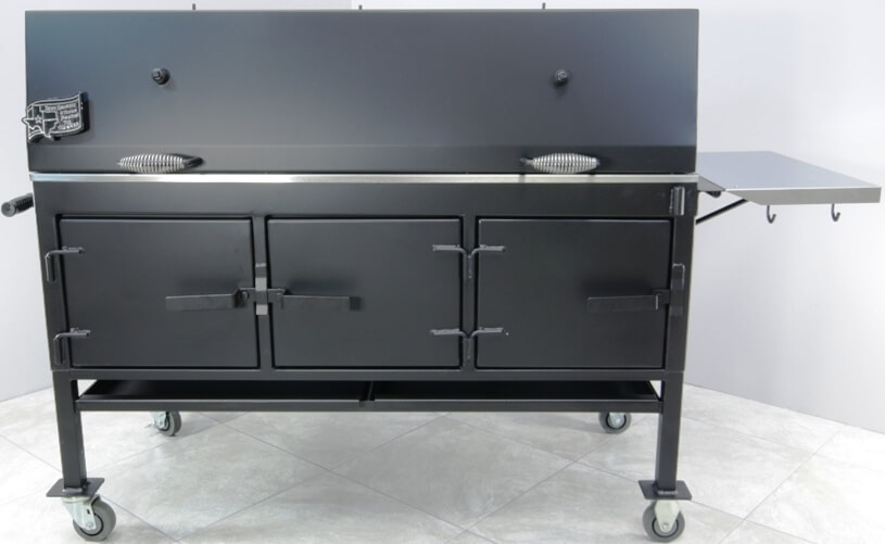 model 2454XL charcoal grill with side stainless steel shelf