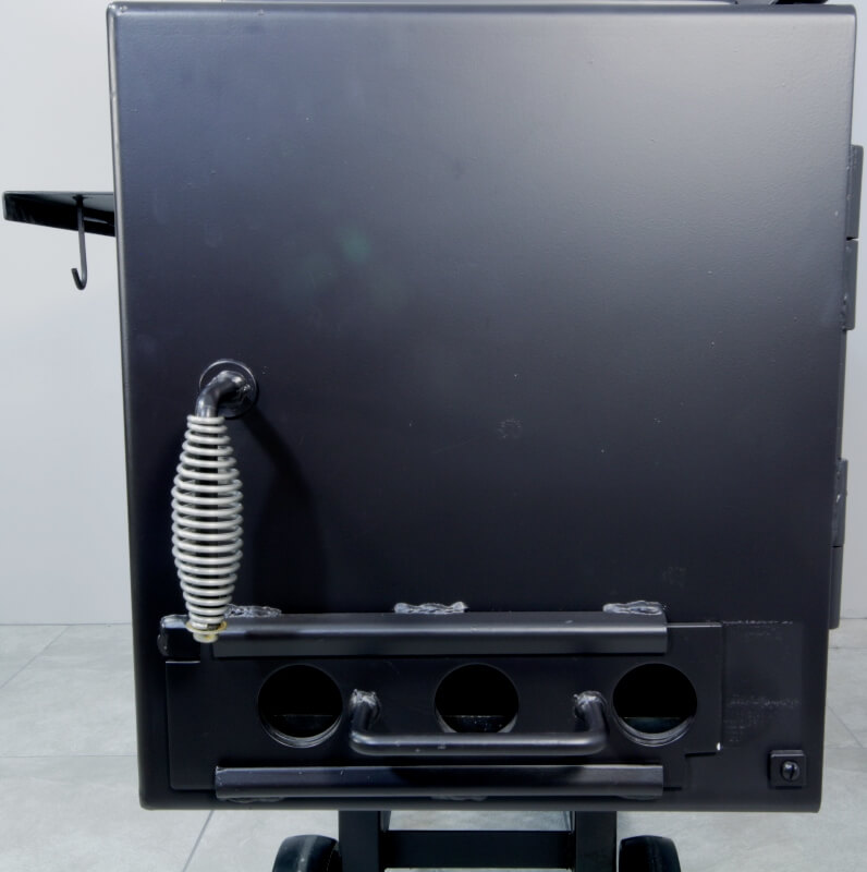 firebox door of model 1628 smoker pit