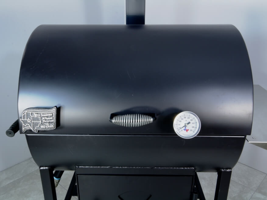 model 2430 roll top smoker pit