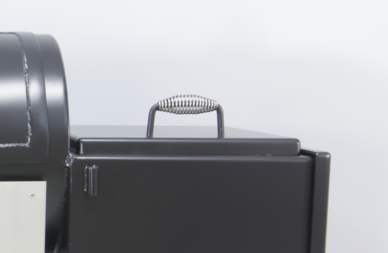 Stainless-Steel-Handle-Assembly-Installed-on-a-Firebox-Lid-Made-in-USA