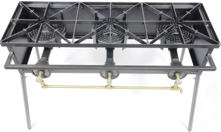 80,000 Btu/hr Triple Burner Cooker Stand