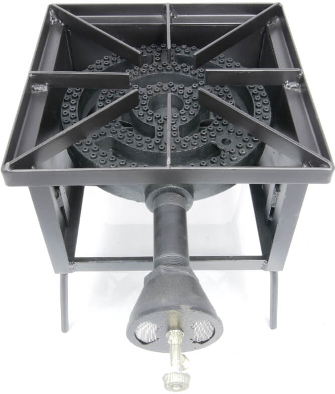 Single Burner Cooker Stand with 120,000 Btu/hr Low pressure Burner