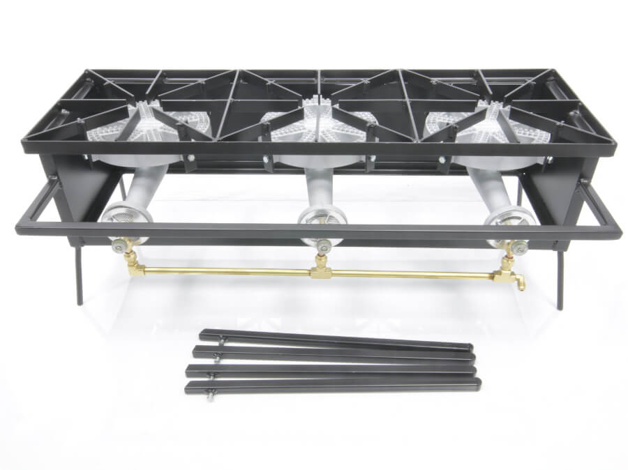 100,000 Btu/hr Triple Burner Cooker Stand