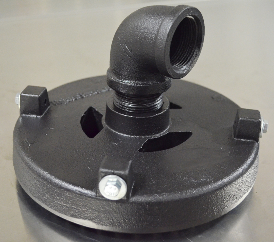 80,000 BTU/hr Low Pressure or Natural Gas Two-Part  Cast Iron Burner - Adjustable Length Neck