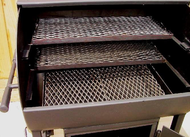 interior view of model 2430 smoker pit and grill